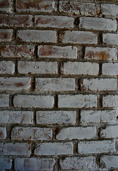 Wall, Brick, Red, Painted, White, Patterned, Rows