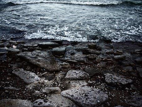 Sea, Rock, Water, Wave, Summer, Sand, Evening, Shell