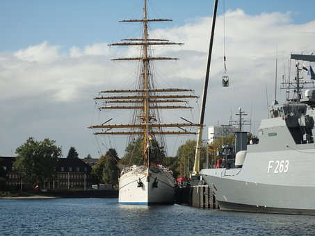 Ships, Kiel, Baltic Sea, Sea, Sailing Vessel, Navy