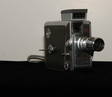 Antique, Camera, Front, Keystone, Olympic, K-33, 8 Mm