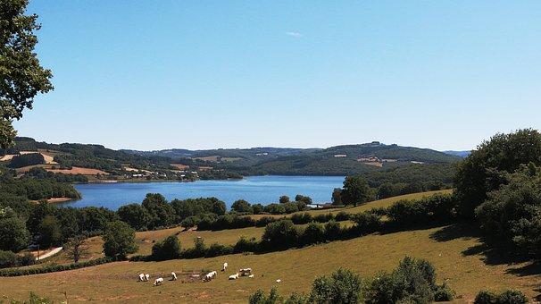 Lake, Pannecière, Blue, Nièvre, Lake Reservoir, Morvan