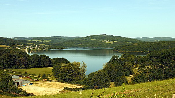 Pannecière Lake, Nature, Landscape, Lake, Water, Sky