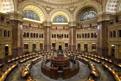 Library, Library Of Congress, Loc, Research Library