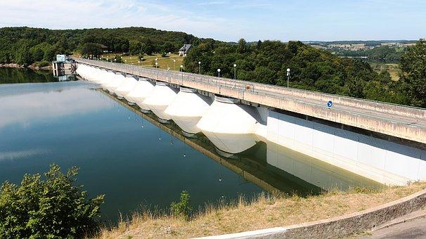 Dam, Pannecière, Water Retention, Nièvre