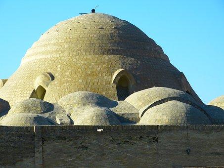 Couple, Bazar, Dome Bazar, Bukhara, Market, Stone