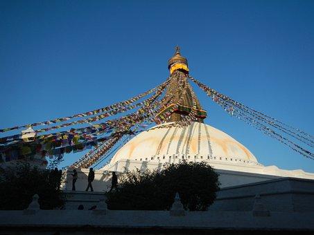 Stupa, Nepal, Pray, Prayer Flags, Buddhism, Kathmandu