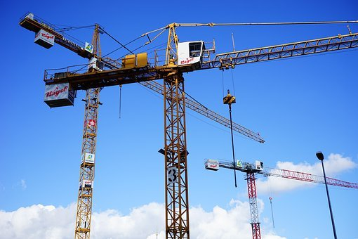Cranes, Load Lifter, Site, Baukran, Build, Sky