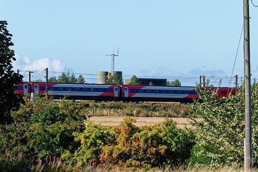 Landscape, Train, High Speed, High Speed Train