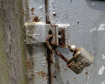Lock, Padlock, Old, Antique, Deadlock, Scr