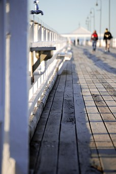 Jetty, Pier, Seaside, Wood, Weathered, Palings, Fence