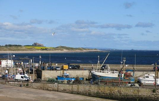 Bamburgh, Castle, Seahouses, Harbour, Northumberland