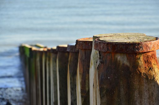 Groynes, Sea, Nature, Depth Of Field, Beach, Clour