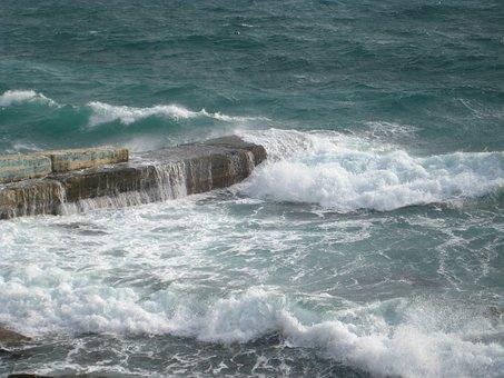 Sea, Waves, Wave, Ocean, Water, Nature, Blue, Travel