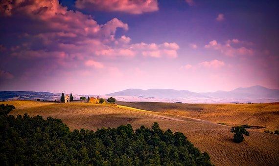 Italy, Sky, Clouds, Sunset, Dusk, Landscape, Scenic