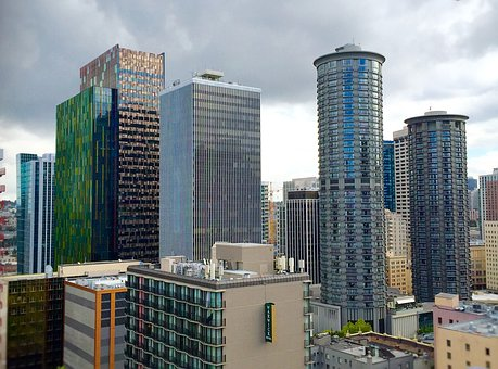 Amazon, Building, Bell Town, Seattle, Highrise