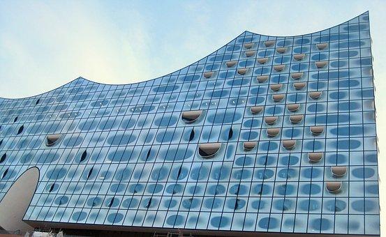 Nordansicht Elbphilharmonie, Hamburg, Harbour City