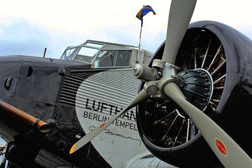 Airplane, Junkers, Ju, Tante, German, Plane, Transport