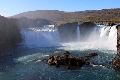 Iceland, Waterfall, Nature, Svartifoss, White Water