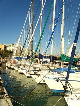 Yachts, Sea, Majorca, Spain, Marina, Haven
