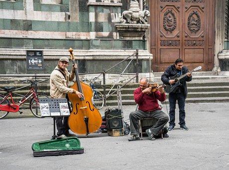 Street Musicians, Street Music, Italy, Florence