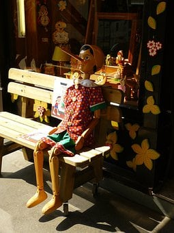 Pinocchio, Holzfigur, Fig, Carving, Toys, Wooden Toys