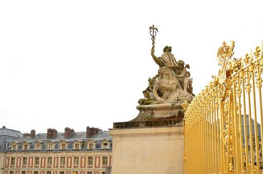 Versailles, Castle, Baroque, France, Gold, Splendor