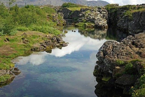Lake, Iceland, Lava, Little Lake, Volcanic Rock