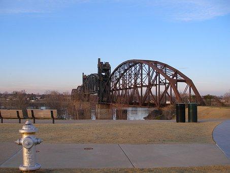 Railroad Bridge, Railway Bridge, Bridge, Arkansas River