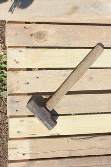 Wood, Hammer, Construction, Carpenter, Work, Effort