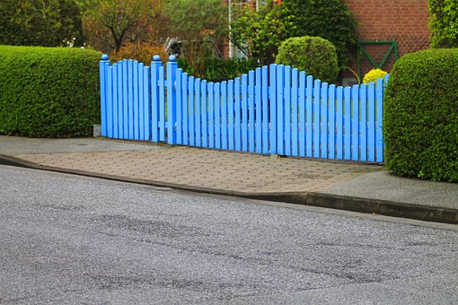 Goal, Garden Gate, Fence, Hedge, Blue, Rest, Mood