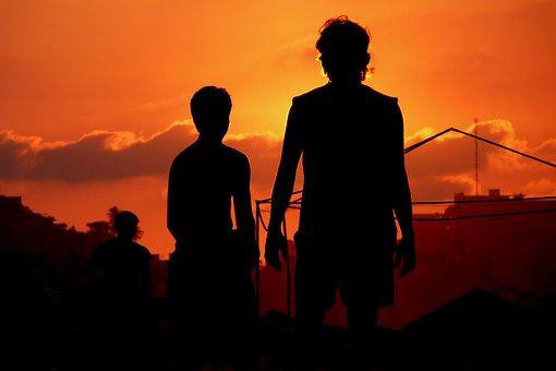 Acapulco, Mexico, Sunset, Football, Beach, Boys, Game