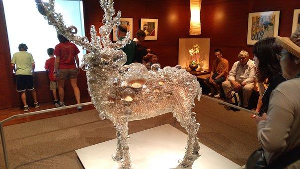 Reindeer, Glass, Museum