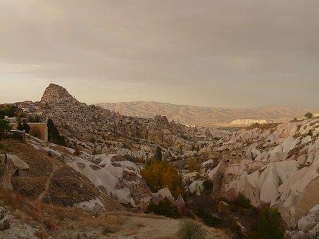 Uchisar, Cappadocia, Nevşehir, Turkey, Rock Apartments