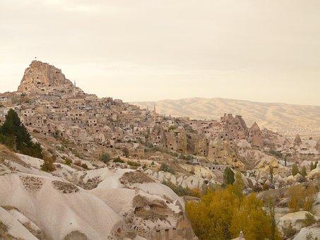 Uchisar, Mountain, Rock, Castle, Cappadocia, Nevşehir