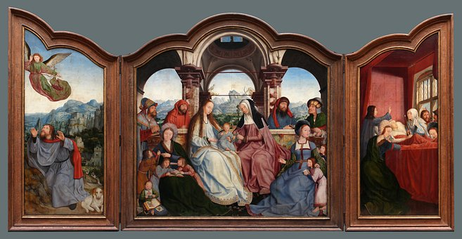 Triptych, Polyptych, Painting, Quinten Metsys