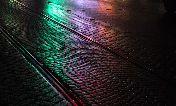 Wet, Road, Railroad, Street, City, Life, Asphalt