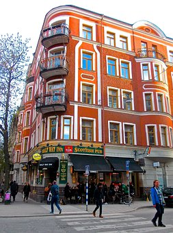Pub, Street Life, Facade, Swedenborgsgatan, Södermalm