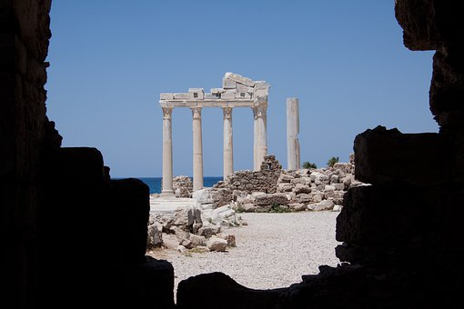 Antiquity, Temple, Ruin, Corinthian, Columnar