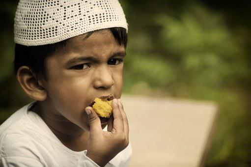 Kid, Boy, Muslim, Eat, Eating, Ramadan, Islamic, Islam
