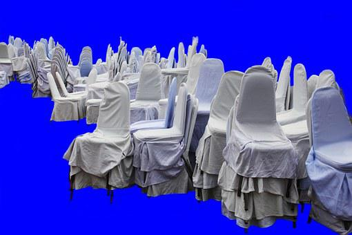 Chairs, Blue, White, Interior, Furniture, Dust Sheet