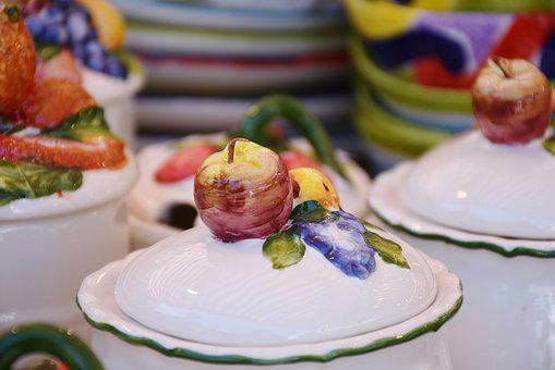 Box, Porcelain, Service, Tableware, Breakfast, Jam Jar
