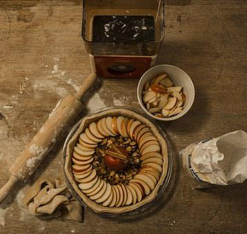 Pastries, Pie, Apple, Roller, Flour, Torte, Eat