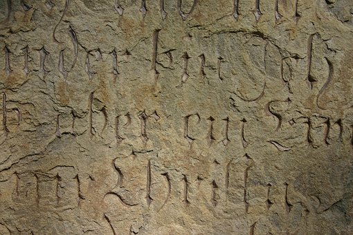 Inscription, Font, Old, Historically, Stone, Engraving