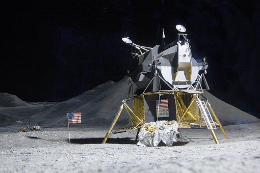 Moon Landing, Lunar Module Eagle, Space Travel