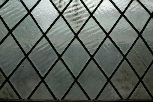 Window, Leaded, Light, Lead Window, Glass, Old, Plain