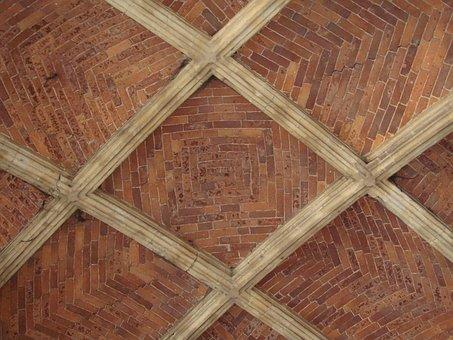 Liege, Belgium, Ceiling Of Walkway, Buildings