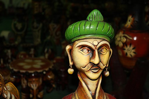 Handicraft, Figure, Green, Statue, Indian, Artifact