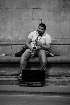 Musician, Street Photography, Italy