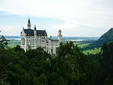 Neuschwanstein, Palace, Bavaria, Castle, Germany