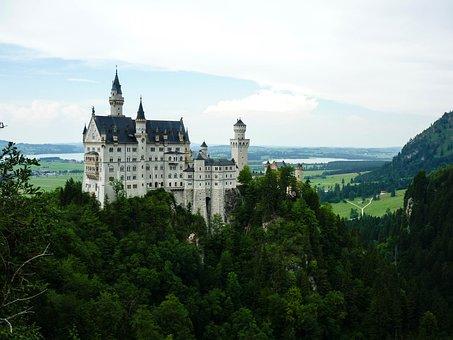 Neuschwanstein, Palace, Bavaria, Castle, Germany